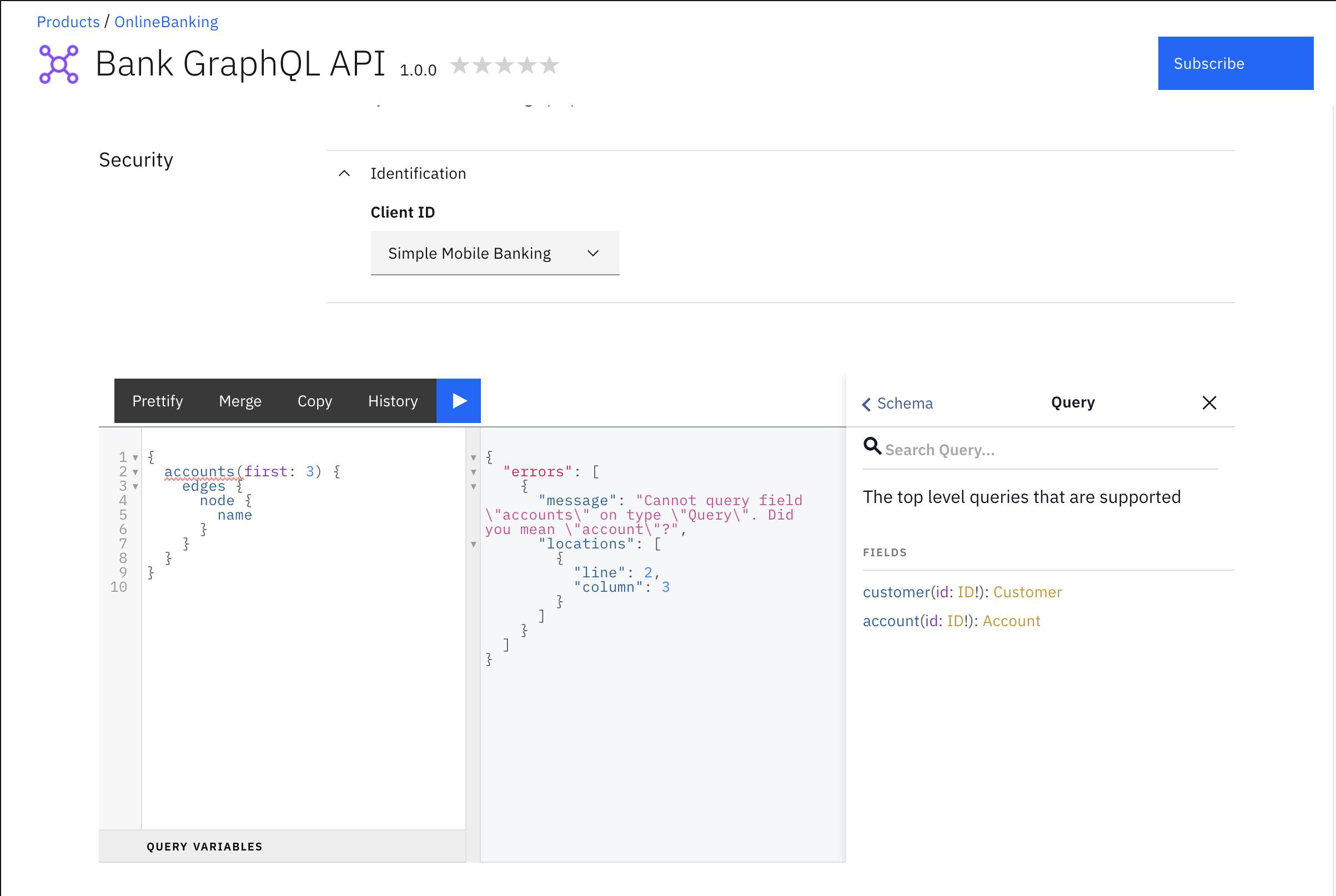 Developer Portal Try It tab for Silver Plan