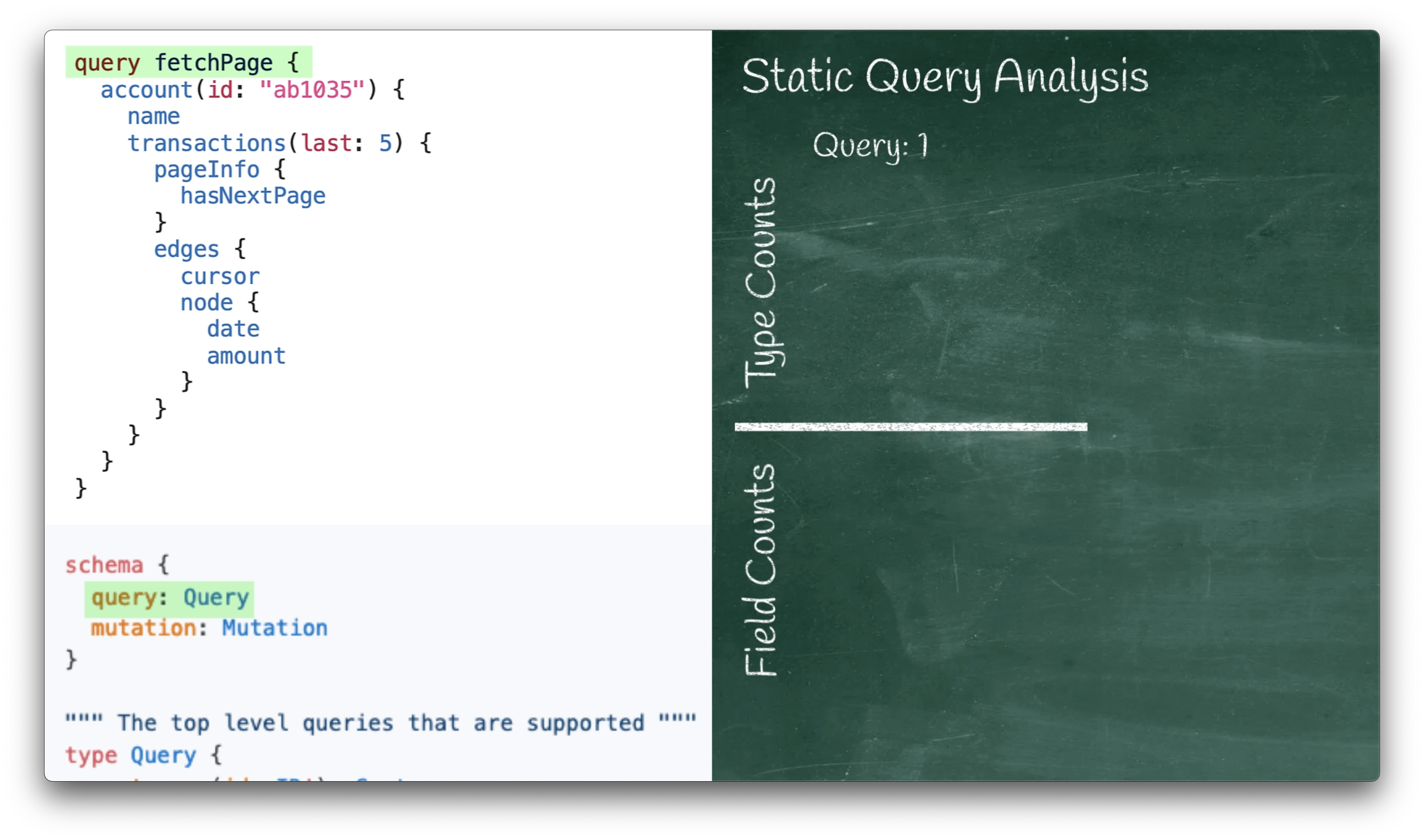 Static Query Analysis Timestep 1